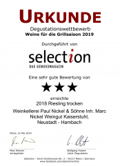 2018er Riesling trocken