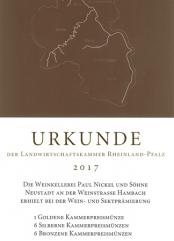 Urkunde Landwirtschaftskammer Rheinland-Pfalz 2017